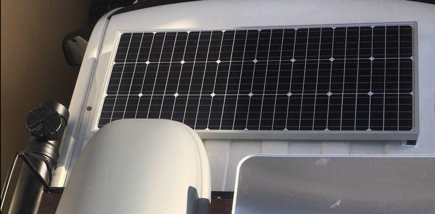 Solarpanel auf dem T5 Campervan- Dach