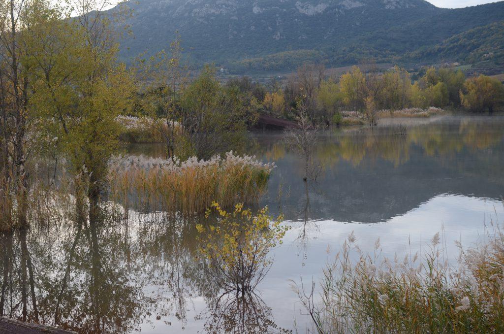 HHochwasser am Lac du Salagou im Dezember