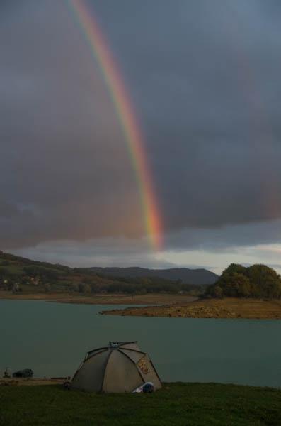 Regenbogen beim Angeln