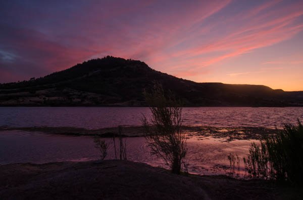 Sonnenuntergang, Lila Wolken