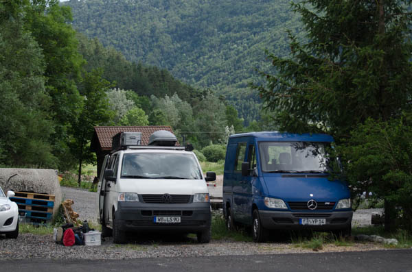 deutsche Campervans in Frankreich