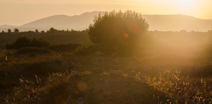 Sonnuntergang in den Pyrenäen