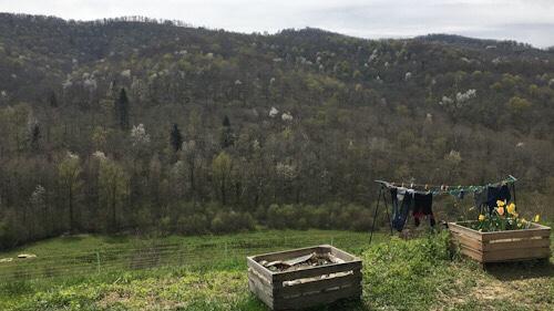 Blick über die Berge in Mas d' Azil