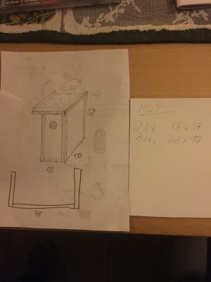 Bauzeichnung Mittelarmlehne und Staufach