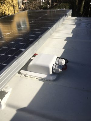 Dachdurchführung bei Solaranlagen nachrüstung auf dem Dach