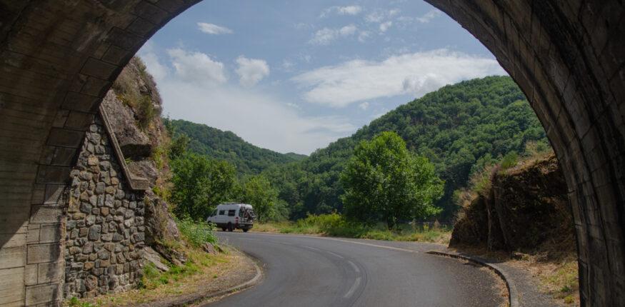 Tunnel in Zentralfrankreich