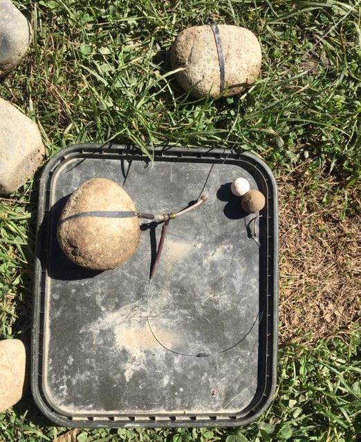 Steinabrissmontage beim Karpfenangeln